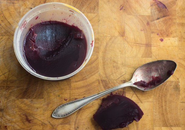 Wild blackcap raspberry sauce