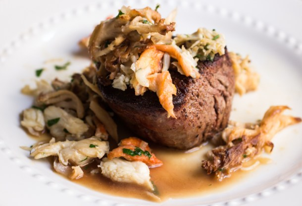 Seared Tenderloins With Hericiums And Crab