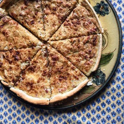 Homemade quiche Lorraine