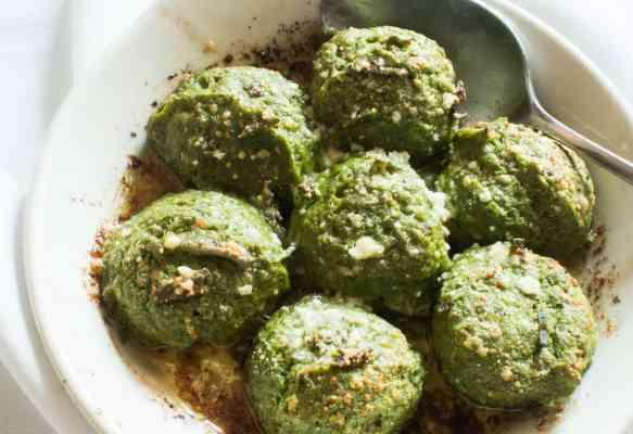Ramp Leaf Gnudi Dumplings