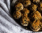Stuffed Shaggy Parasol Mushrooms