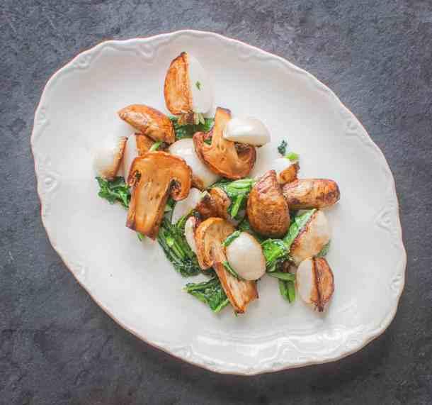 Matsutake Mushrooms with Hakurei Turnips