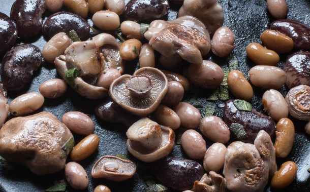 Blewits and Heirloom Beans