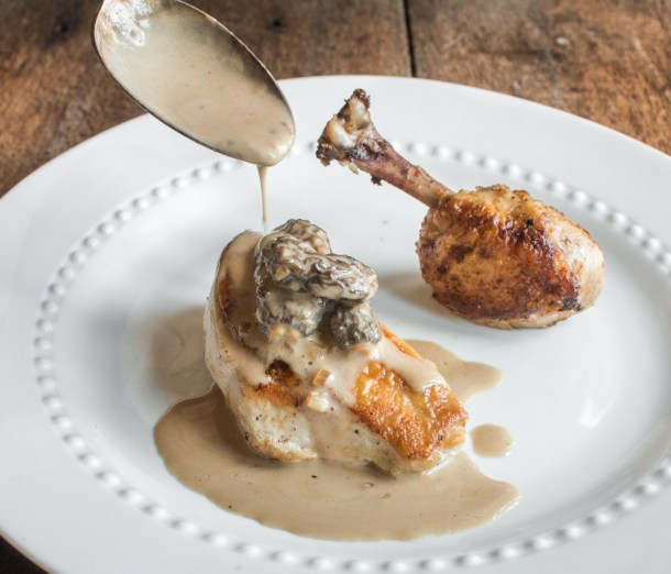 Jacques Pepin's Chicken and Morels Mushroom Sauce Recipe