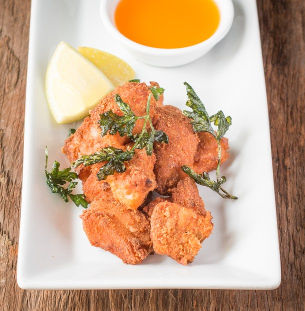 Burbot or lingcod recipe with lobster mushroom crust and crayfish butter (1)