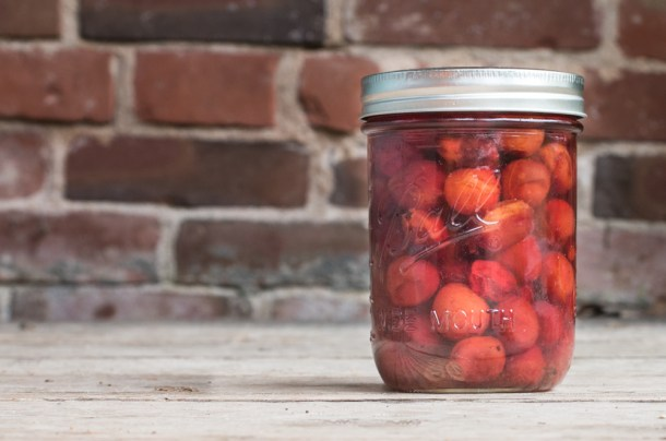 Candied sweet and sour wild plums recipe