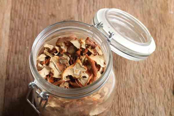 Dried lobster mushrooms or Hypomyces lactiflourum