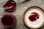Sweet and sour chokecherry or wild cherry sauce recipe for canning