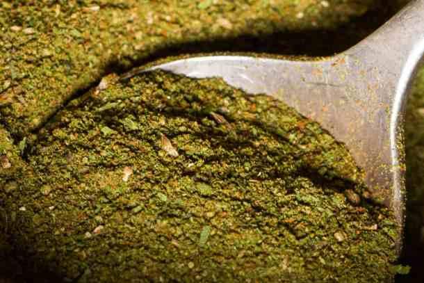Dried ramp leaf rub recipe