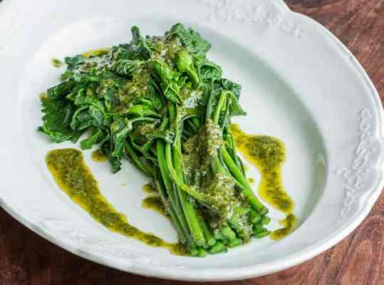 Garlic mustard shoots with ramp leaf butter recipe