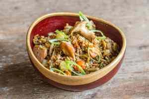 Kernza Salad Recipe with Preserved Mushrooms and Bergamot (6)