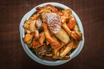 Fricasee of chanterelles, porcini, lobster mushrooms, and laccaria recipe