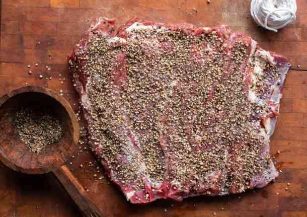 Smoked venison or deer neck pastrami recipe
