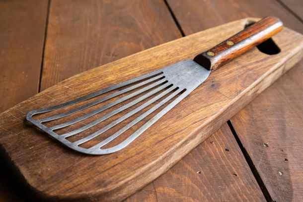 professional chef fish spatula wood handle