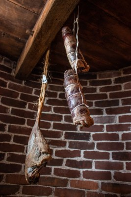 hanging lamb prosciutto and pancetta
