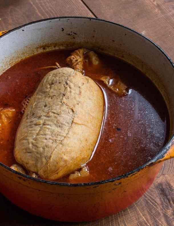 Meatloaf torchon with hedgehog Mushrooms (4)
