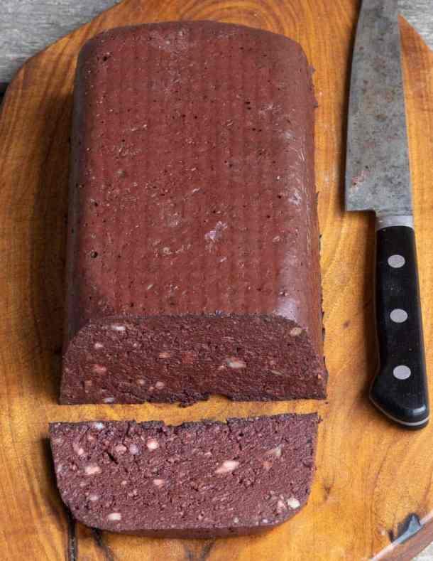 Creole Blood Sausage Cake