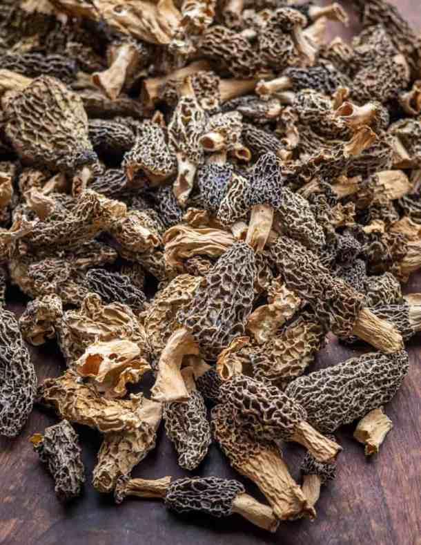 Dried morel mushrooms from Minnesota