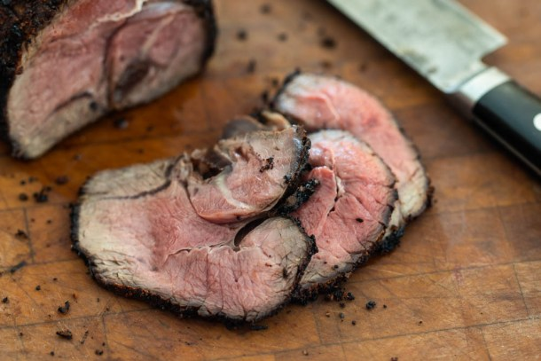 Chili-rubbed venison tri-tip steak recipe