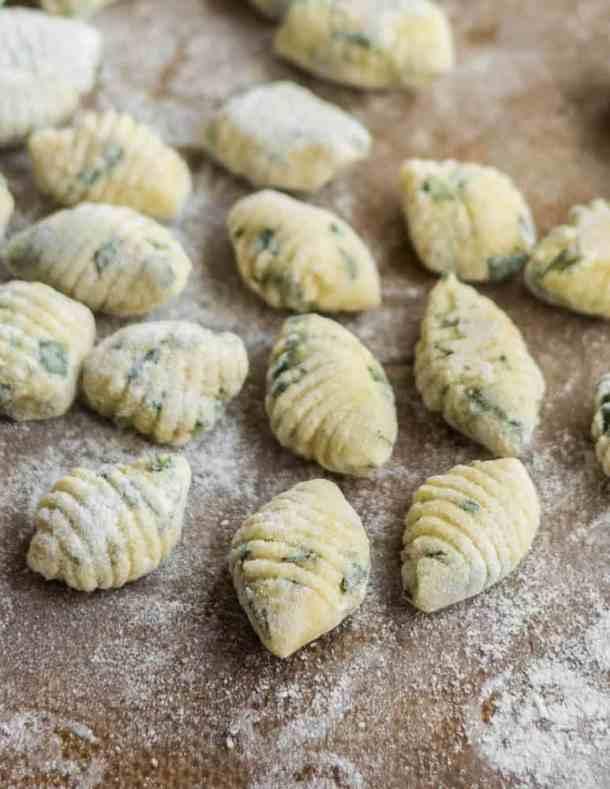 Wild herb gnocchi recipe