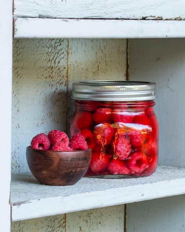 Wild raspberry infused vinegar