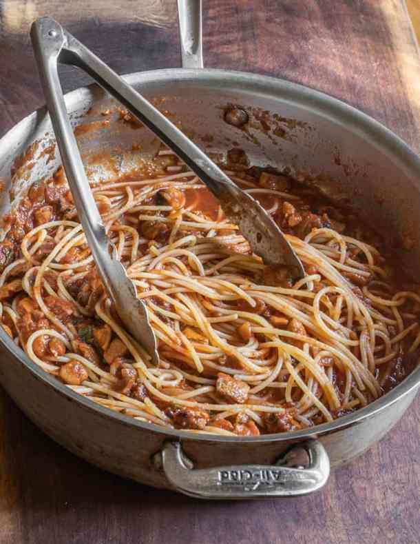 Puffball mushroom pasta sauce recipe