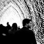 My buddy Sean walks through the art installation Cathedral Of Light at Vivid Festival 2016 | Foraggio Photographic