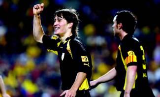 Bojan, feliç amb la Catalana.