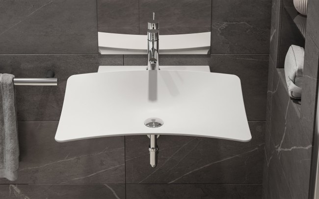 Lavabo Shine Washbasin Rodighiero Design for All Inclusive Design