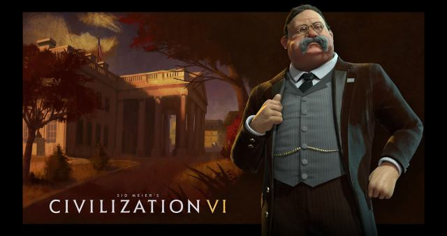 "Civilization VI will feature a new iconic President for the American Civilization - Theodore ""Teddy"" Roosevelt."
