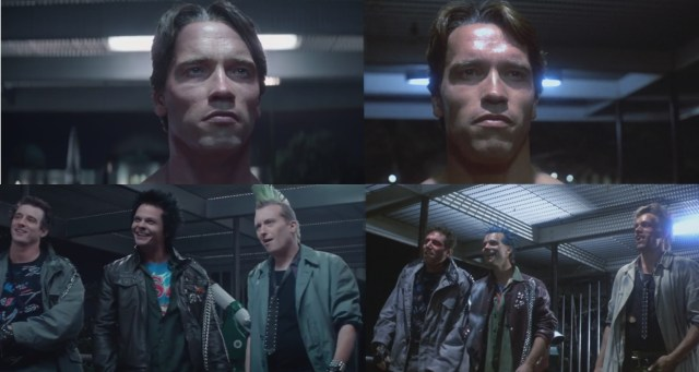 Terminator: Genisys (left) vs the original The Terminator.
