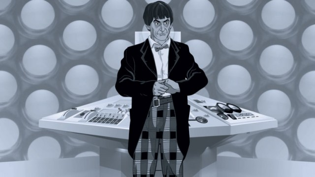 The newly regenerated Doctor in his animated form.