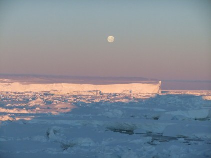 Moonrise over East Antarctica