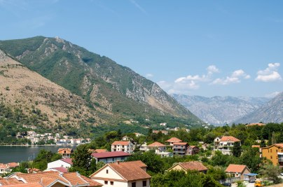 View from our apartment in Kotor, Montenegro