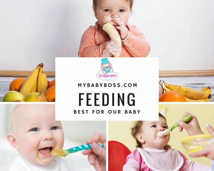 Feeding baby food