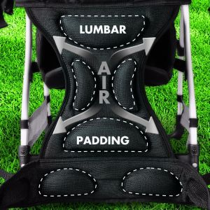 The backpack has got comfortable padded seat that baby loves to be seated in it