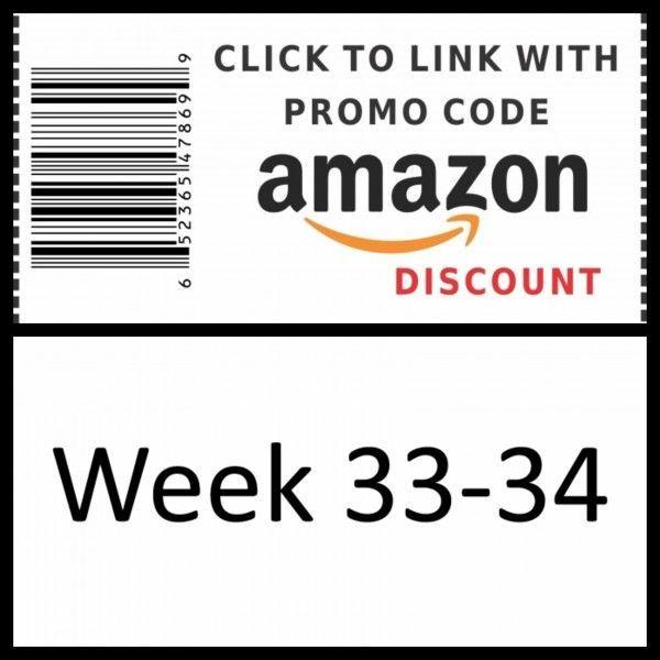 Amazon promo code Week 33-34