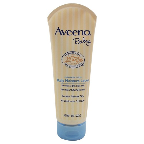 Aveeno Baby Daily Moisture Lotion, Fragrance Free, 8-Ounce Tubes (Pack of 6)