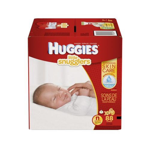 Huggies Little Snugglers Baby Diapers, Size Newborn, 88 Count (Packaging May Vary)