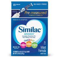 Similac Advance Infant Formula with Iron, Baby Formula, On-the-Go Powder...
