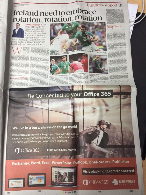 Sunday Business Post Blacknight Office 365 pub