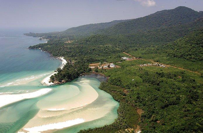 vistas, playa, Sierra Leona