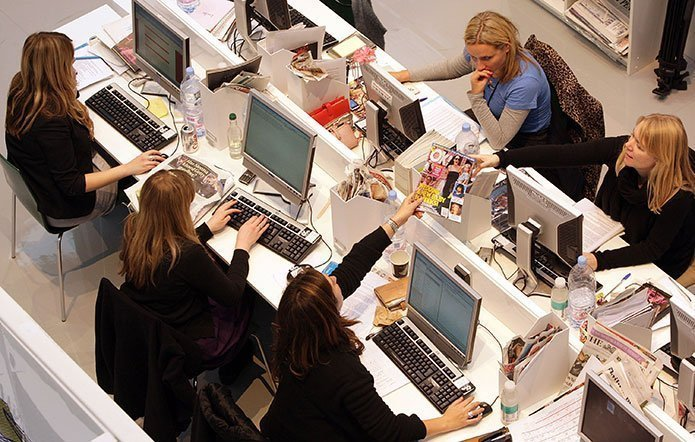 oficina, mujeres