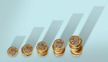 Inversión. Crecimiento. Monedas. Dinero