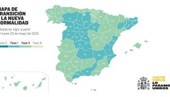 Mapa español desescalada 25 de mayo