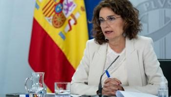 María Jesús Montero, ministra de Hacienda y portavoz del Gobierno, durante el Consejo de Ministros celebrado el 1 de septiembre de 2020