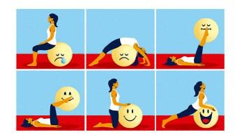 Locos por el yoga. Forbes 81. Ilustración: Daniel Diosdado