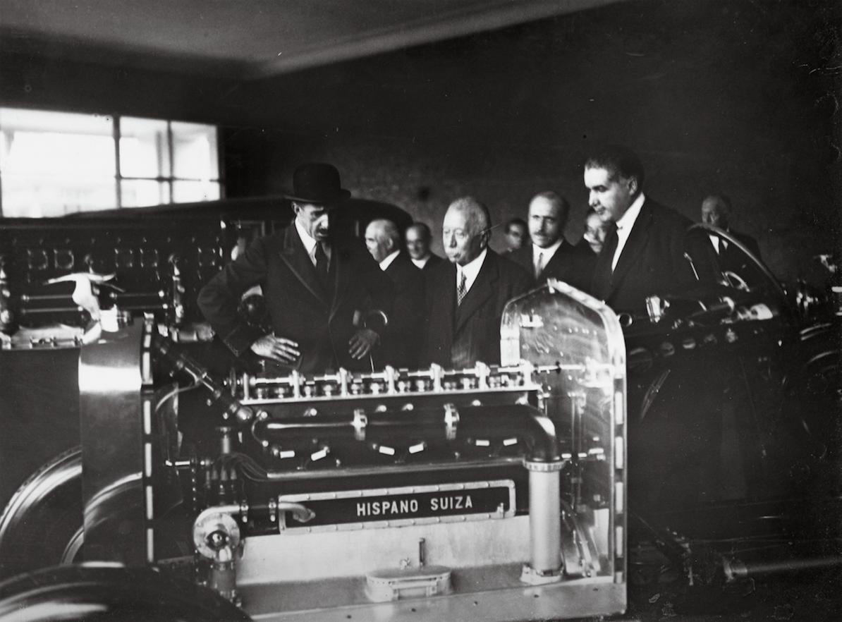 Con el estallido de la I Guerra Mundial, Hispano Suiza centró sus esfuerzos en construir motores de aviación.