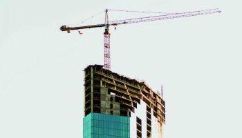 Edificio de oficinas en construcción