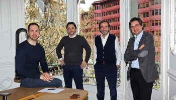 Los socios de Aldea Ventures: Josep Durán, Alfonso Bassols, Gonzalo Rodés y Carlos Trenchs.